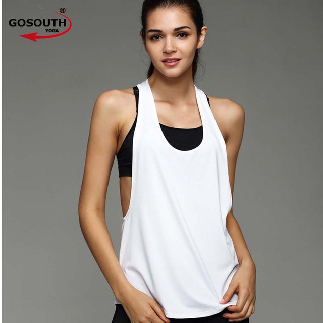 e7366321bf196 Woman Summer Yoga Sports Vest Fitness Tank Top Active Workout Clothes  Sleeveless T-Shirt Running Gym Jogging Vest F-49