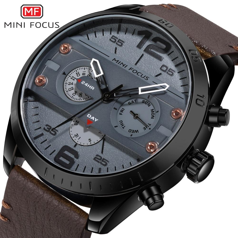 MINI FOCUS Wrist Watch Men Top Brand Luxury Famous Male Clock Quartz Watch Wristwatch Quartz-watch Relogio Masculino MF0068G.05