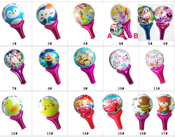 Classic toys for children inflatable holder foil balloons cute Birthday party supplies 50*30cm 400 pcs/lot Mix fast delivery