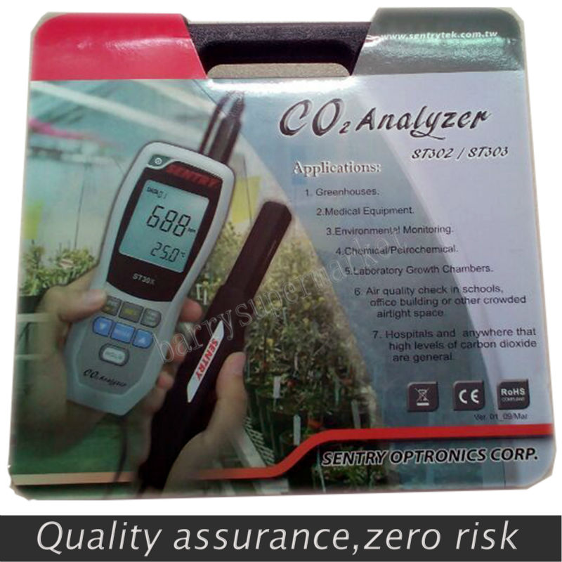SENTRY ST303 Handheld Carbon Dioxide CO2 monitor indoor air quality monitor Humidity meter + Temperature meter + CO2 tester 3in1