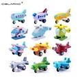 Cielarko wooden mini airplane minicar models kit toy baby education Toy Vehicles multicolor mini model toy 12pcs/set LYJ30
