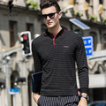 Troilus 2017 New Men's Polo Shirt Mercerized Cotton POLO Casual Slim Long Sleeved Stripe Polo Shirt Comfortable Breathable Polos
