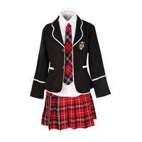fashion College Wind Student Long Sleeve Uniform Japanese and Korean Junior High School Boys and Girls Class Uniform Set JQ543