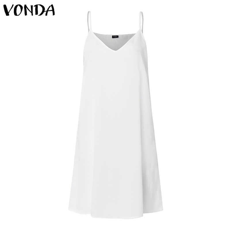 Zomer Witte Kanten Jurk Vonda 2020 Vrouwen Sexy V-hals Dot Hollow Asymmetrische Zoom Jurk Vakantie Vest Plus Size Vestidos S-5XL