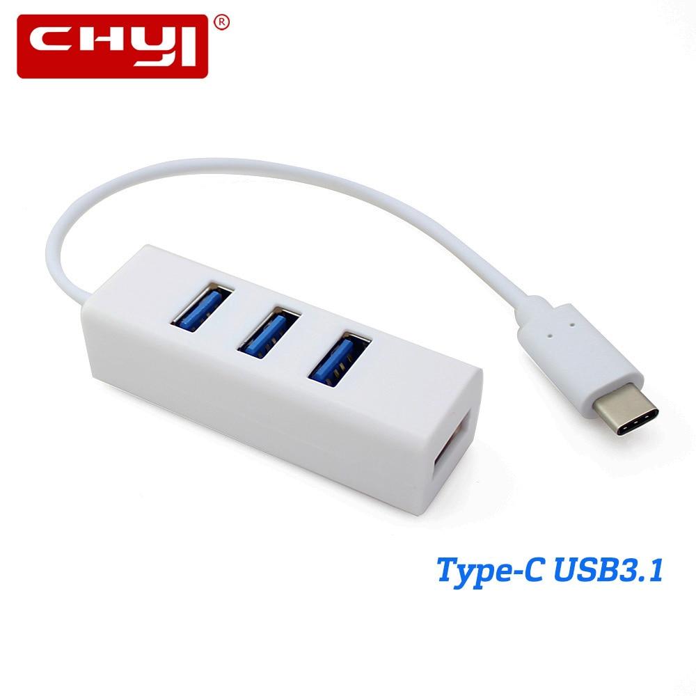 CHYI USB 3.1 Type-C HUB USB-C To 4 Port USB 2.0 Type C Connector Splitter Adapter For PC Laptop Desktop Macbook Pro Phone Tablet