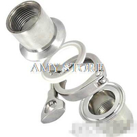 One Set= 1 Pair DN40 1.5 1 1/2 Female BSP 304 Sanitary Female Pipe Fitting + TRI CLAMP 2 + PTFE Gasket