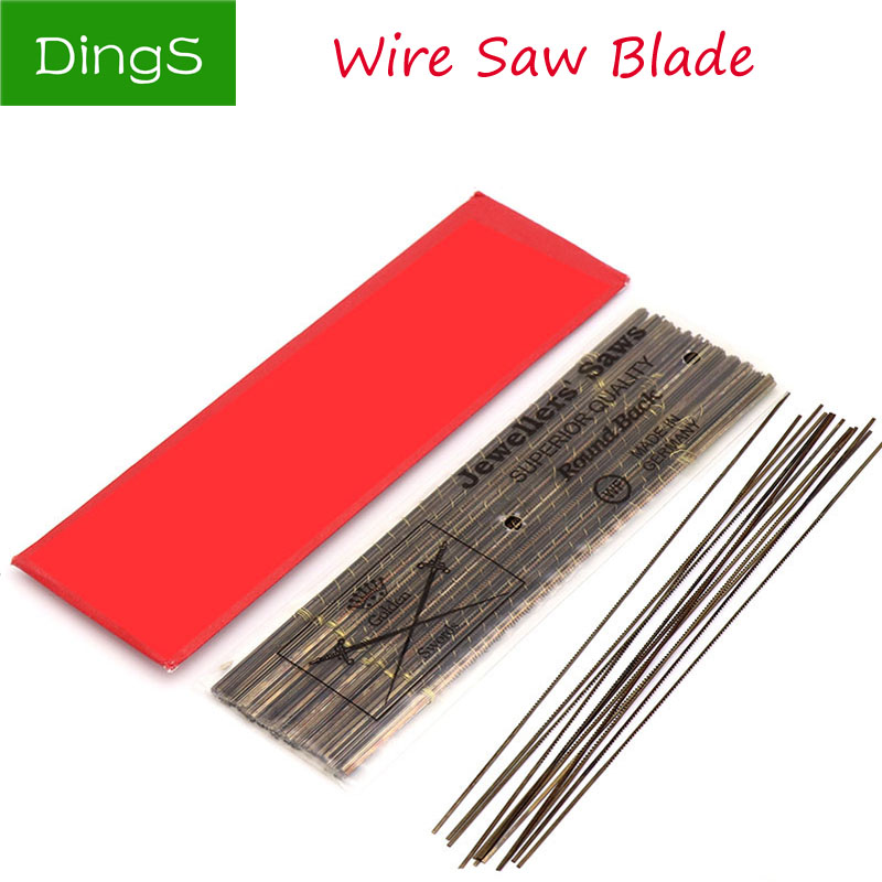 12pcs 130MM Diamond Wire Saw Blade Cutter 0#-6#Jewelry Metal Cutting Jig Blades Woodworking Hand Craft Tools Scroll Spiral Teeth
