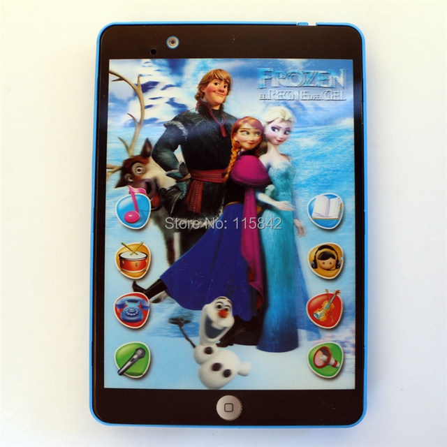 US $14.0  Frozen 3D toy pad tablet computer educational toys for kid ,toy  pad kids learning tablet with Music and Intrestding recording-in Learning  ...