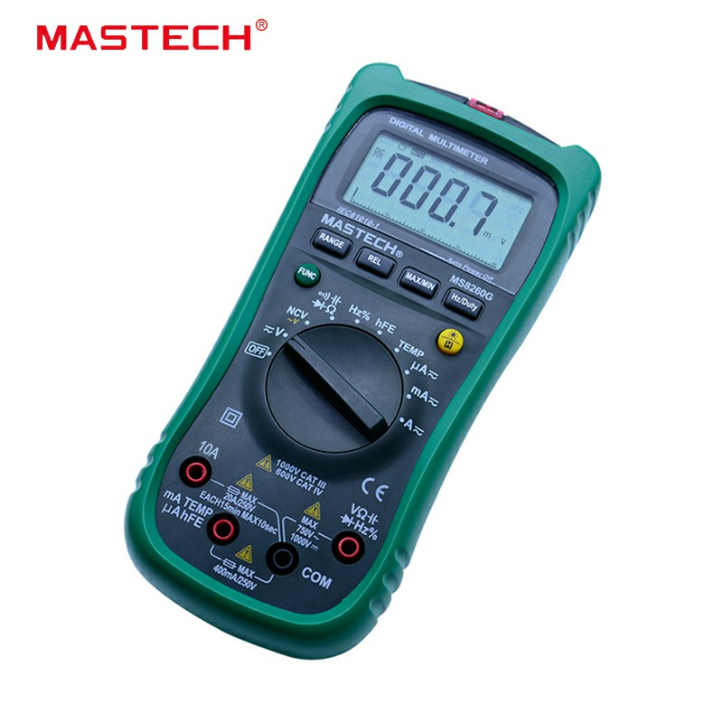 MASTECH MS8260G Auto Range Digital Multimeter ohm voltage and current Capacitance Frequency Temperature Meter