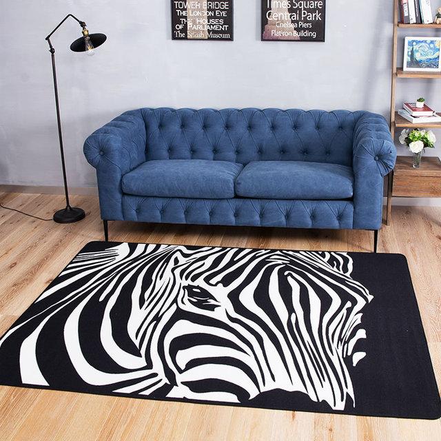 European simple modern zebra carpet bedroom rug living room guest ...