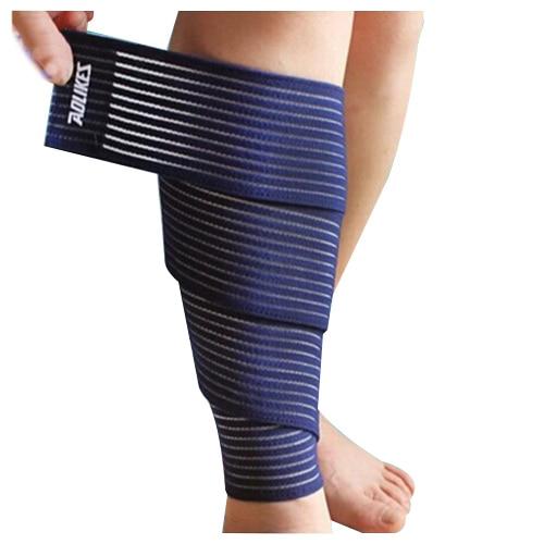 AOLIKES Sports Wrap-around Calf Support Bandage Knee Bandage Leg Skin Protection Band Brace Belt 1pcs blue