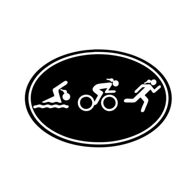 Euro Car Decal Wall Sticker Lettering Triathlon Girls Ladies Swim