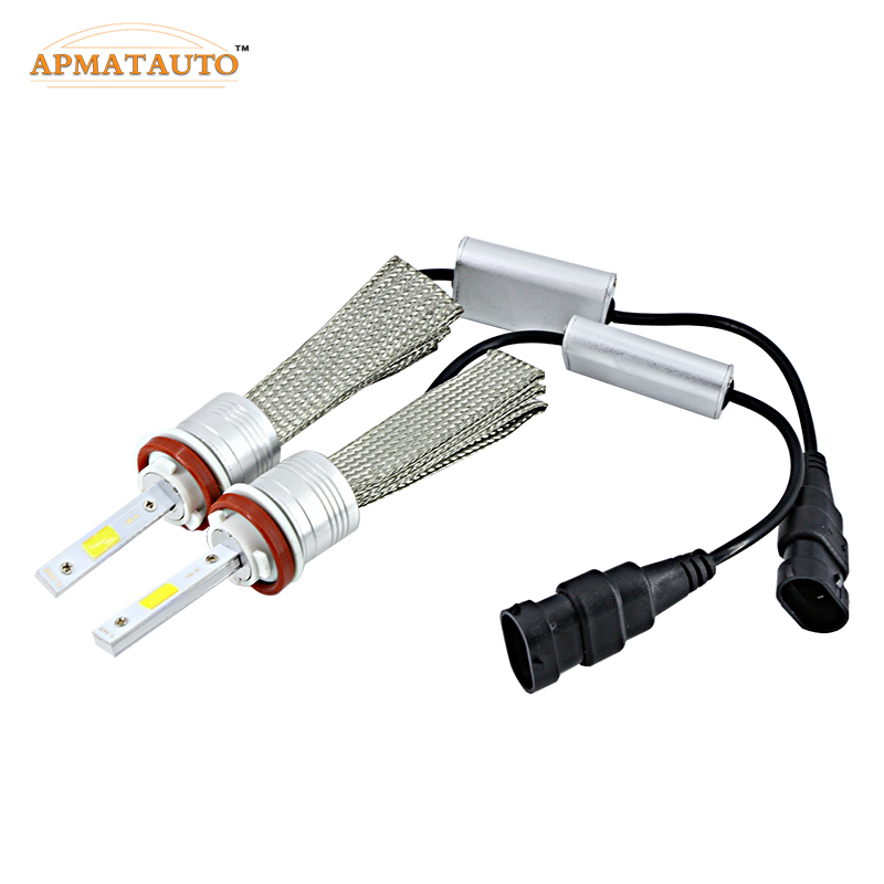 2X H7 H8 H11 9005 HB3 9006 HB4 H4 Auto Led Headlight Cars Fog Lighting Lamp Bulb 96W 9600Lm 6000K White Daytime Running Light