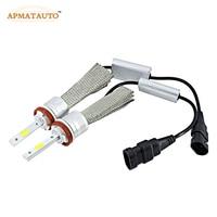 2X H7 H8 H11 9005 HB3 9006 HB4 HB Oto Led Far arabalar Sis Aydınlatma Lambası Ampul 96 W 9600Lm 6000 K Beyaz Gündüz Koşu Işık