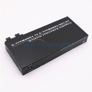 Image 4 - Gigabit In Fibra Ethernet Switch 8 Port TX a 2 Port FX 10/100/1000 Mbps SMF DX Convertitore di Fibra di Lunghezza Donda 1310nm 20 km SC Connettore