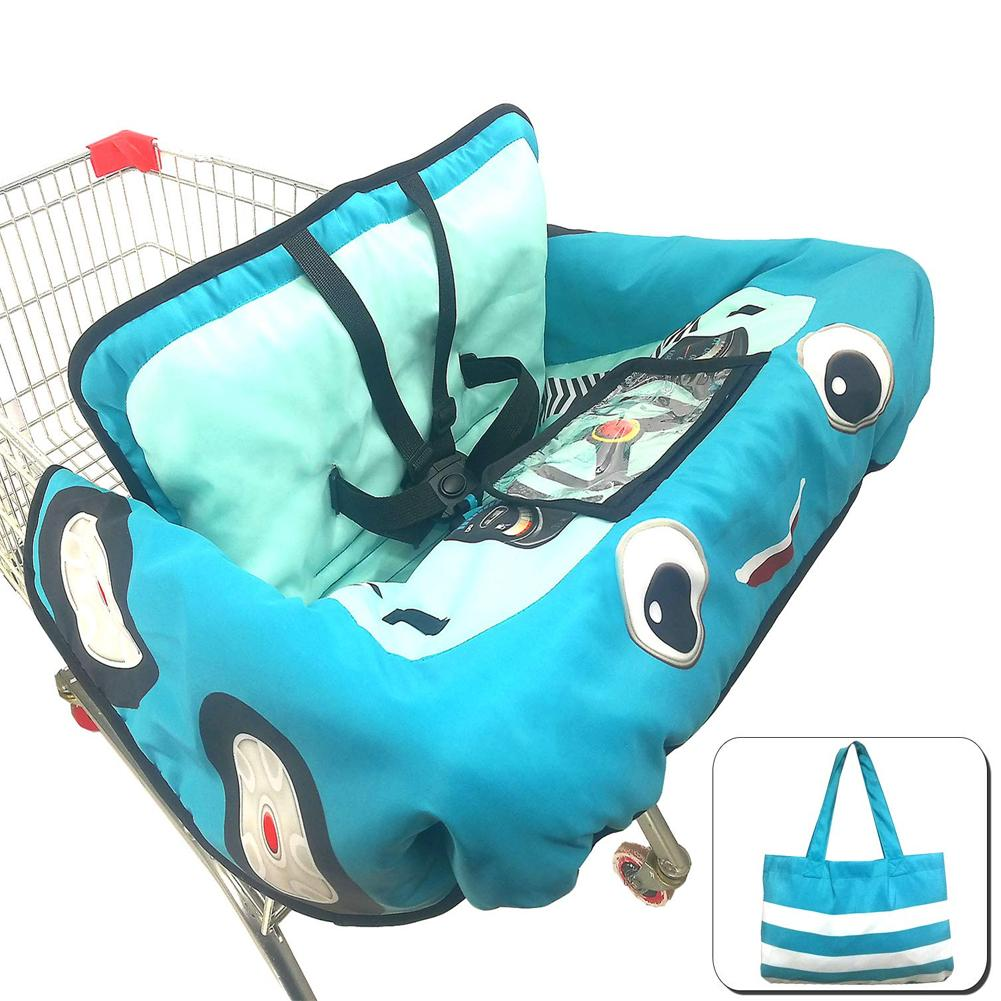 Детская магазинная Тележка для покупок Подушка к обеденному стулу Защитная переносная подушка для путешествий с карманами уход за ребенком - Цвет: A