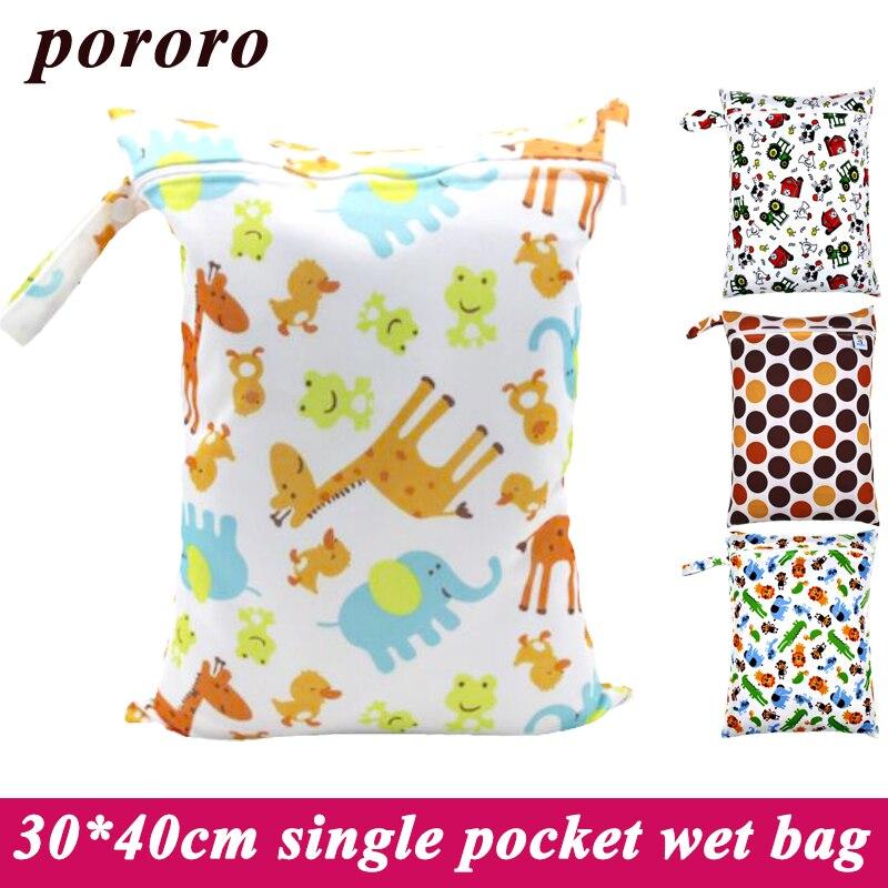 30*40 cm Saco Mãe Carrinho de Bebê Fralda de Pano Molhado Seco Ao Ar Livre Pendurado Saco De Fraldas Reutilizáveis Menstrual Pad À Prova D' Água saco
