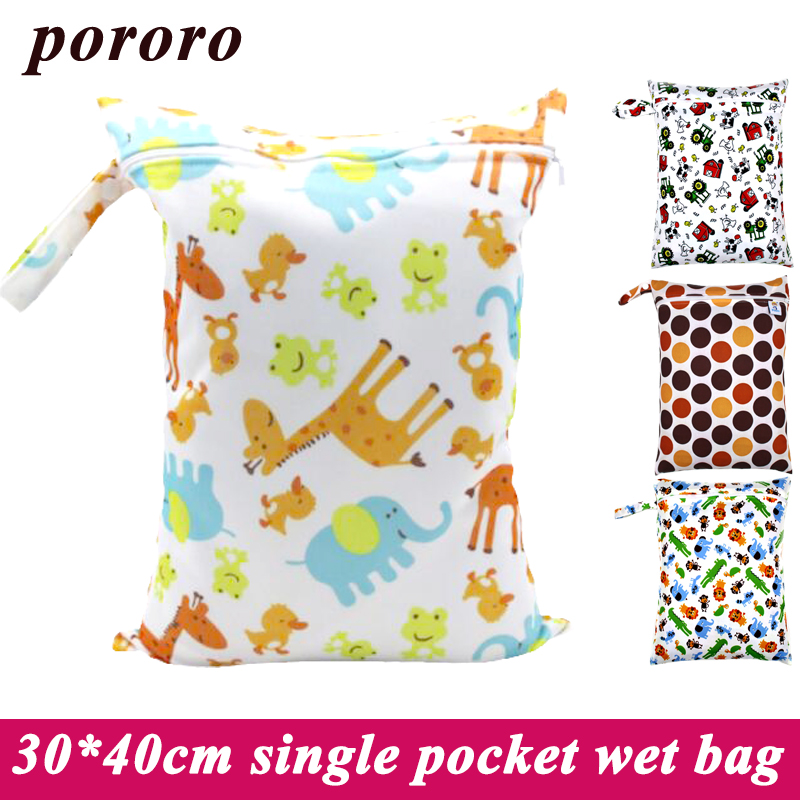 30*40cm Cloth Diaper Bag Mother Baby Stroller Outdoor Hanging Diaper Bag Reusable Menstrual Pad Waterproof Dry Wet Bag