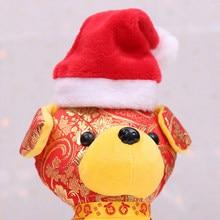 26df0d5c34e Mascotas Navidad Santa Claus invierno mascota perro sombrero de Papá Noel  Navidad Año Nuevo casquillo de La felpa decoraciones s.