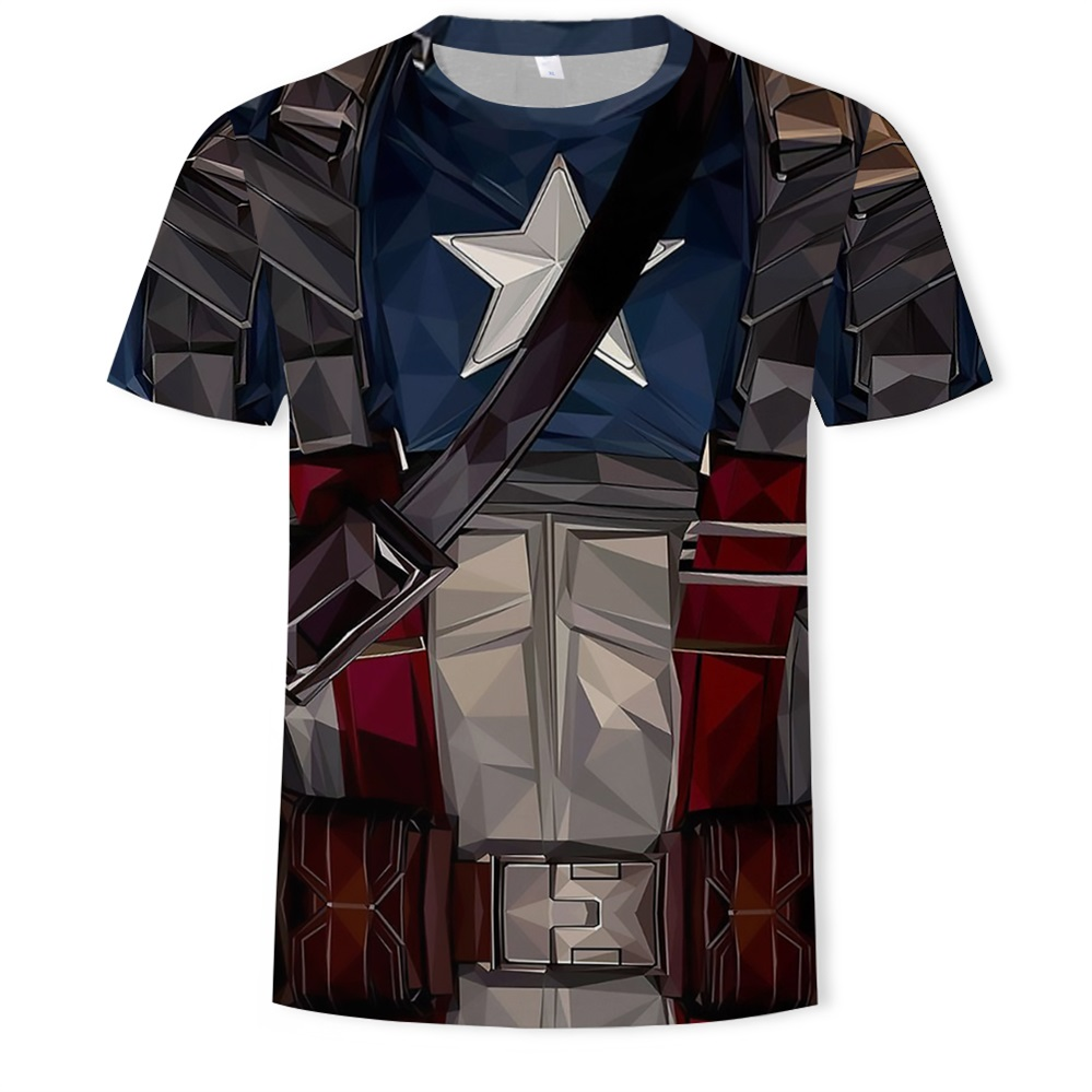 Short Sleeve 3D T Shirt Miracle Series Superman Captain American Warrior Miracle T-shirt Avengers Costume Comics Super Hero Mens image