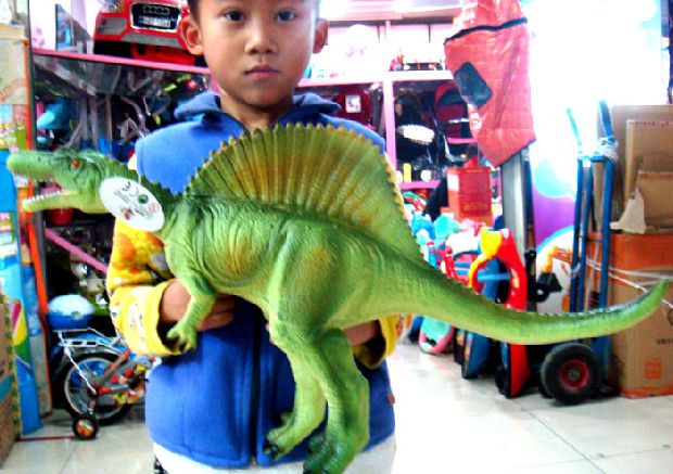 63cm Large Size Soft Spinosaurus Model Dinosaur Toy Model Children Gift Home Decoration Teaching Model Collection Animal Model pig acupuncture model animal acupuncture model