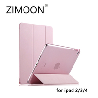ZIMOON New Case For Apple IPad 2 3 4 Ultra Slim Tri Fold PU Leather Smart