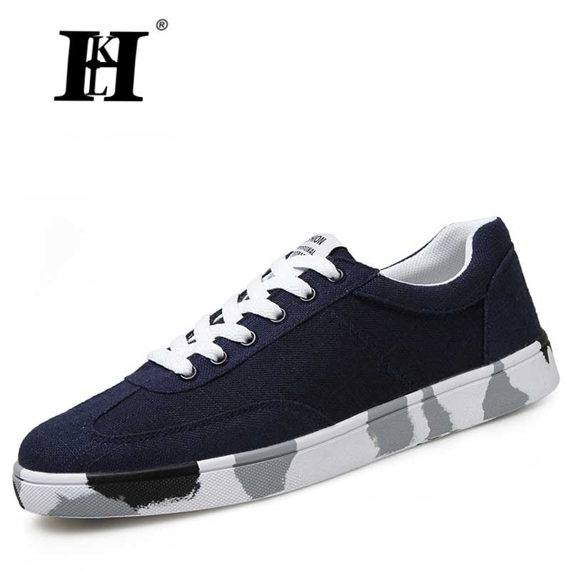 ФОТО HKL Men Skate Shoes In Men's Casual Shoes Canvas Shoes Men Zapatos Hombre Man Fashion Zapatos Lace-up Student Shoes