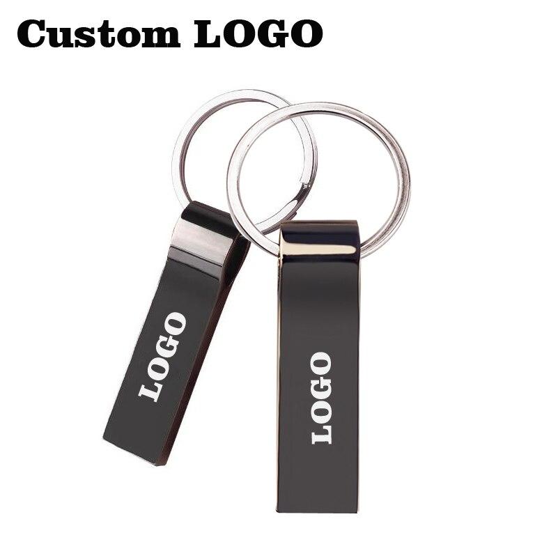 Customize Logo 10 Pcs Free Metal Business Usb Flash Drive 4gb 8gb 16gb 32gb Usb Pen Drives High Speed Usb2.0 Usb Memory U Stick Cheap Sales 50%