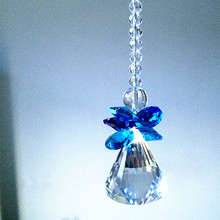 180MM(H) Gorgeous Crystal Pendants Mixed Colors Glass Angle Window Hanging Prism Suncatcher For Lovely Christmas Tree Decoration