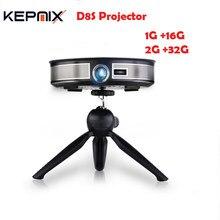 D8s projetor 200 lumen dlp projetor rk3368 octa núcleo 1 gb/16 gb 2 gb/32 gb android 6.0 beamer 5g wifi HD1M-IN casa teatro 4 k