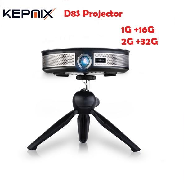 New D8S 200 Lumen DLP Projector RK3368 Octa Core 1GB/16GB 2GB/32GB Android 6.0 Beamer 5G WIFI HD1M-IN Home Video Theatre 4K HD it8718f s hxs gb