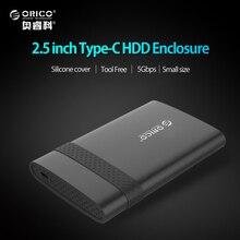 ORICO 2.5 pulgadas USB 3.1 Gen 1 Tipo C Para SATA 3.0 Super Speed HDD HDD Case Herramientas Gratuitas caja-(2538C3)