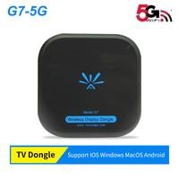 Miracast 5Ghz Wireless smart dongle Mirascreen G7 mini PC Android Tv stick for apple ios VS chromecast cromecast dvb t2 tuner tv