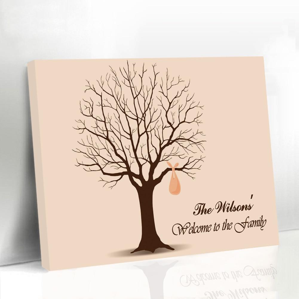 Enmarcado boda libro de invitados huellas dactilares árbol reuniones ...
