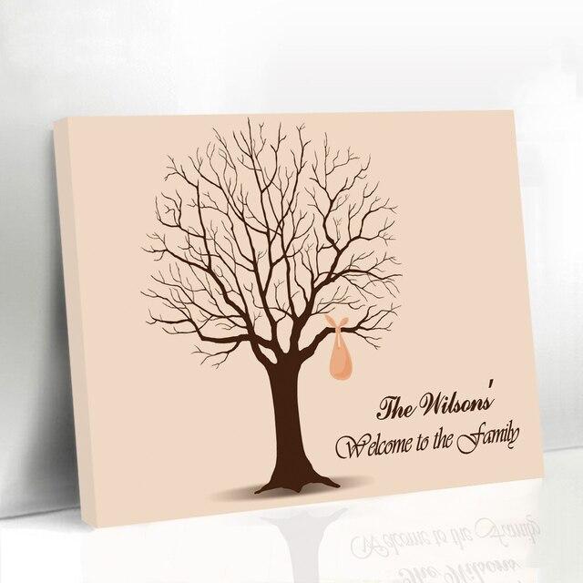 Aliexpress.com: Comprar Enmarcado boda libro de invitados huellas ...