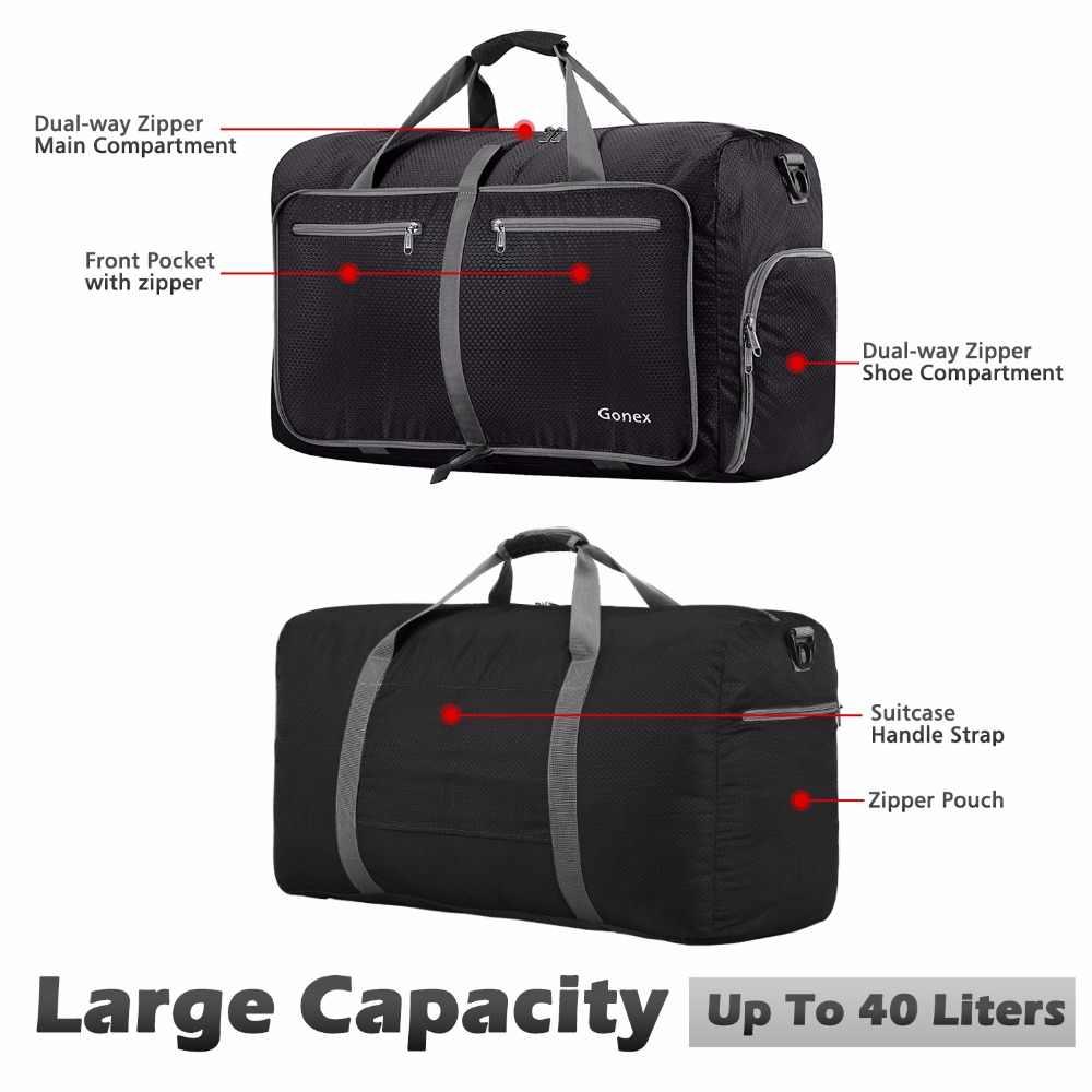 a13c00a769d7 ... Gonex 40L путешествия вещевой мешок Packable сумки чемодан сумки для  мужчин женщин Тактический военная Униформа поездки