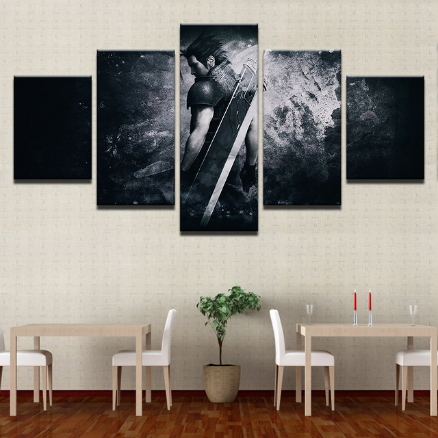 Canvas Modern Frame Home Decor Wall Art Poster 5 Panel Game Final Fantasy Character Living Room Modular Print Pictures Painting 1