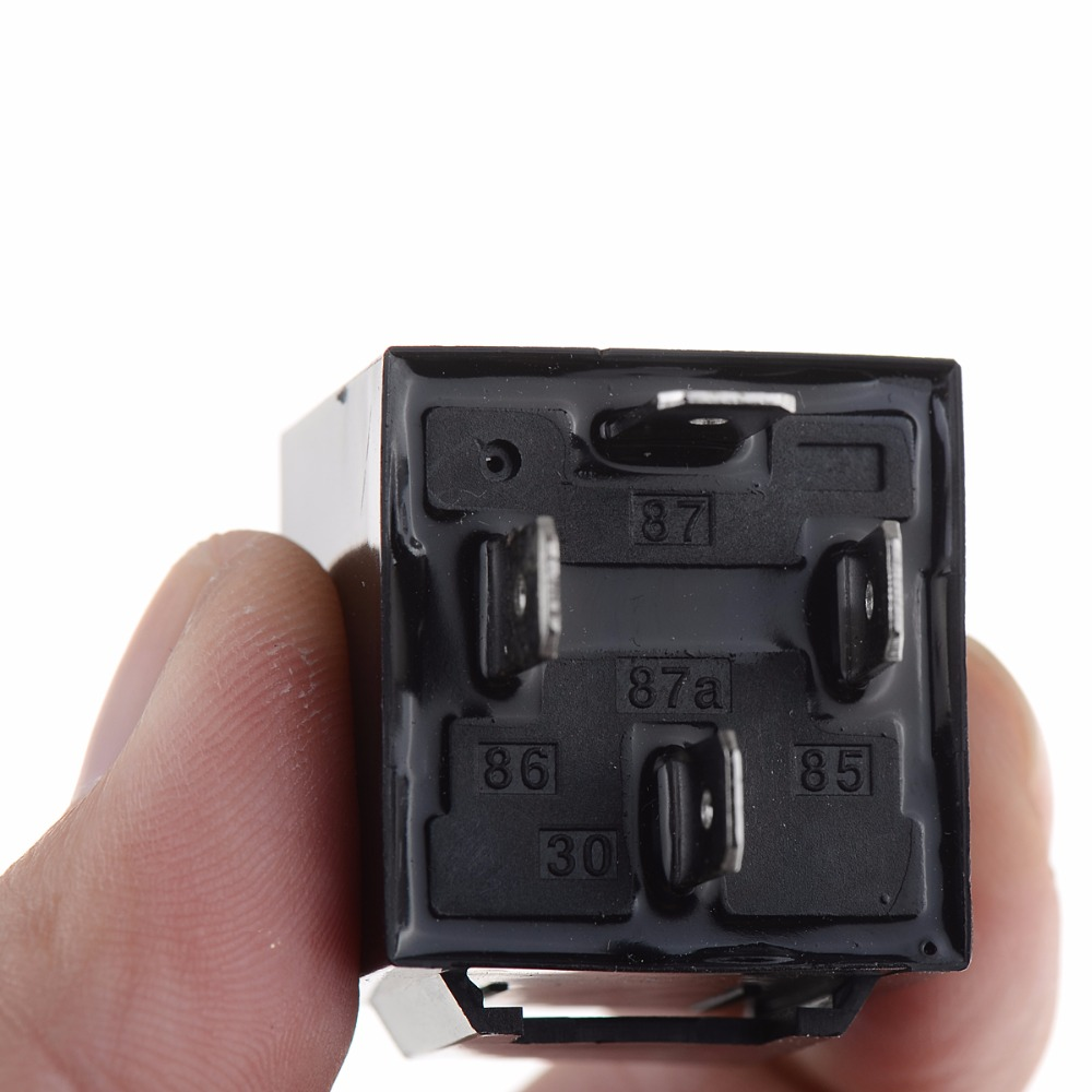 1pc 12v 12volt 40a Auto Automotive Relay Socket 40 Amp 4 Pin Prong 12 Volt Wires In Cables Adapters Sockets From Automobiles Motorcycles On