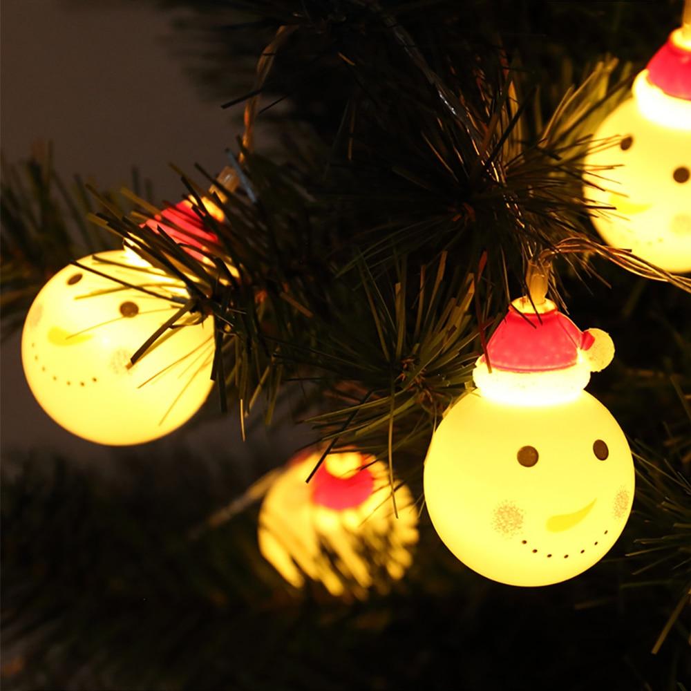 Creative Lovely Santa Claus 20 LEDs Lighting Strings DC5V 3M Night Light Merry Christmas Lovely LED Light Kids Room Decoration