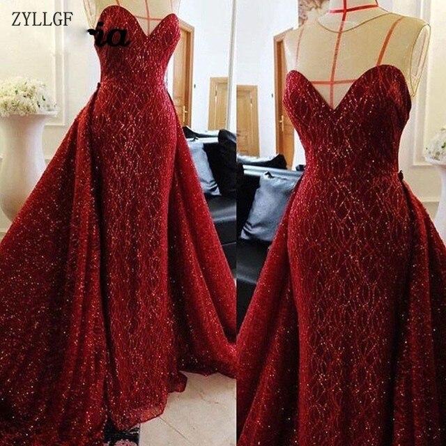 cb0369f3d ZYLLGF brillante vestidos noche musulmanes Aibye Dubai turco Formal vestido  De fiesta velada árabe brillo MC59