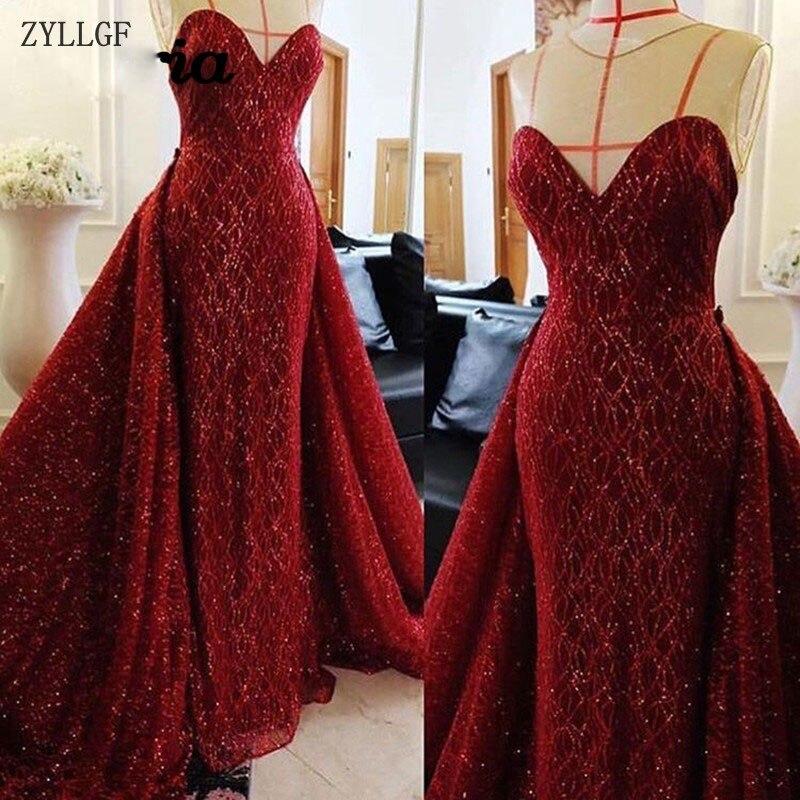 ZYLLGF robes De soirée musulmanes brillantes Aibye Dubai Robe De bal formelle turque Robe De soirée arabe paillettes robes De soirée MC59