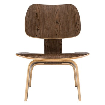 Modern Plywood Lounge Chair Natural Walnut Wood Low Lounge Chair For Living Room Furniture Mid Century Wooden Accent Chair