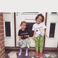 Muchachos de Los Bebés de Zanahoria Camiseta de Algodón Lindo Informal de Manga Corta Camisetas Para Niños Tapas de Los Niños