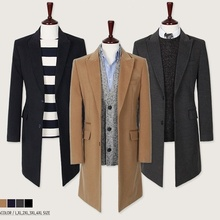 цена Zogaa 2019 мужское пальто Men's Płaszcz Męski Woolen Coat Slim Fit Abrigo Hombre Single Breasted пальто мужское Woolen Coat онлайн в 2017 году