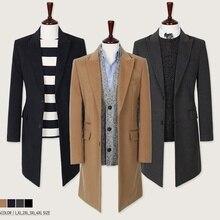 Zogaa 2019 мужское пальто Men's Płaszcz Męski Woolen Coat Slim Fit Abrigo Hombre Single Breasted пальто мужское Woolen Coat