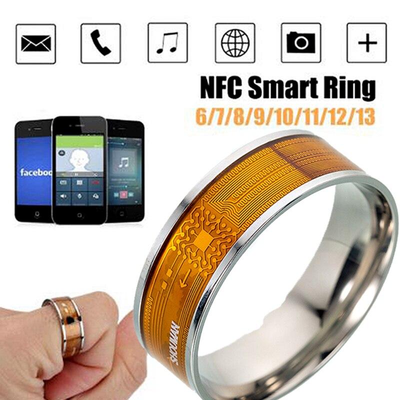 NFC смарт Кольцо Многофункциональный Нержавеющаясталь Водонепроницаемый интеллектуальный цифровой Технология кольцо высокого класса под...