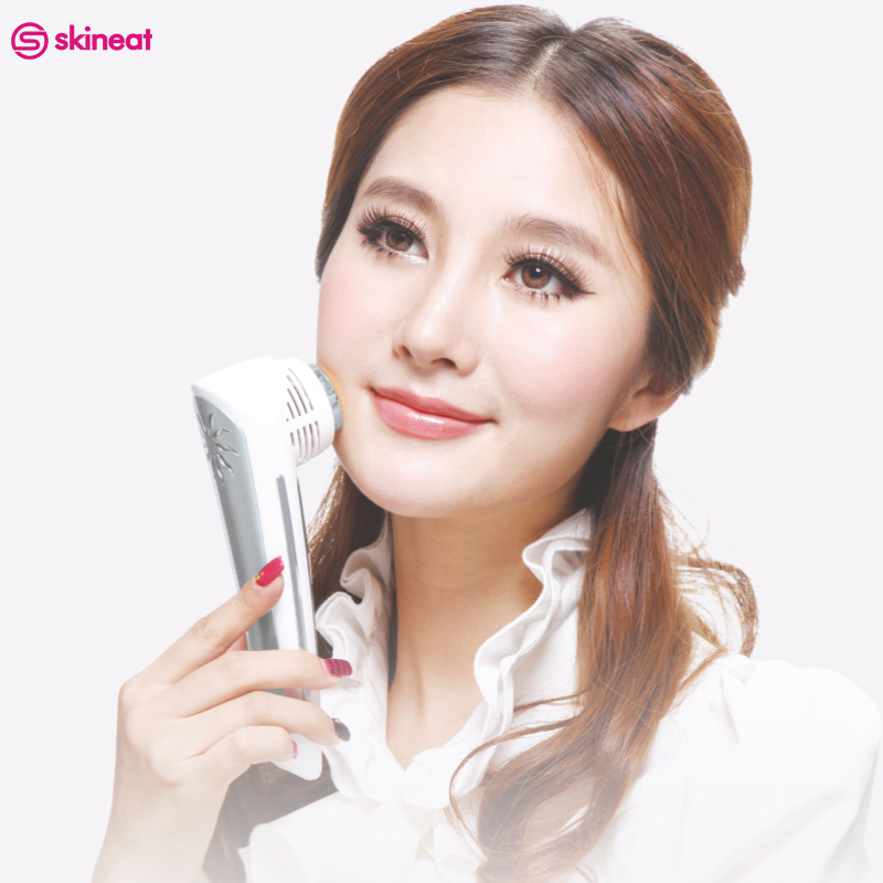 Skineat Cool Warm Beauty Instrument Face Massager Relaxation Device Care Skin Facial Whitening Anti Wrinkle Equipment For Female hot facial beauty skin care health beauty instrument ph 1 equipment ultrasonic whitening anti acne pimples aging wrinkles r