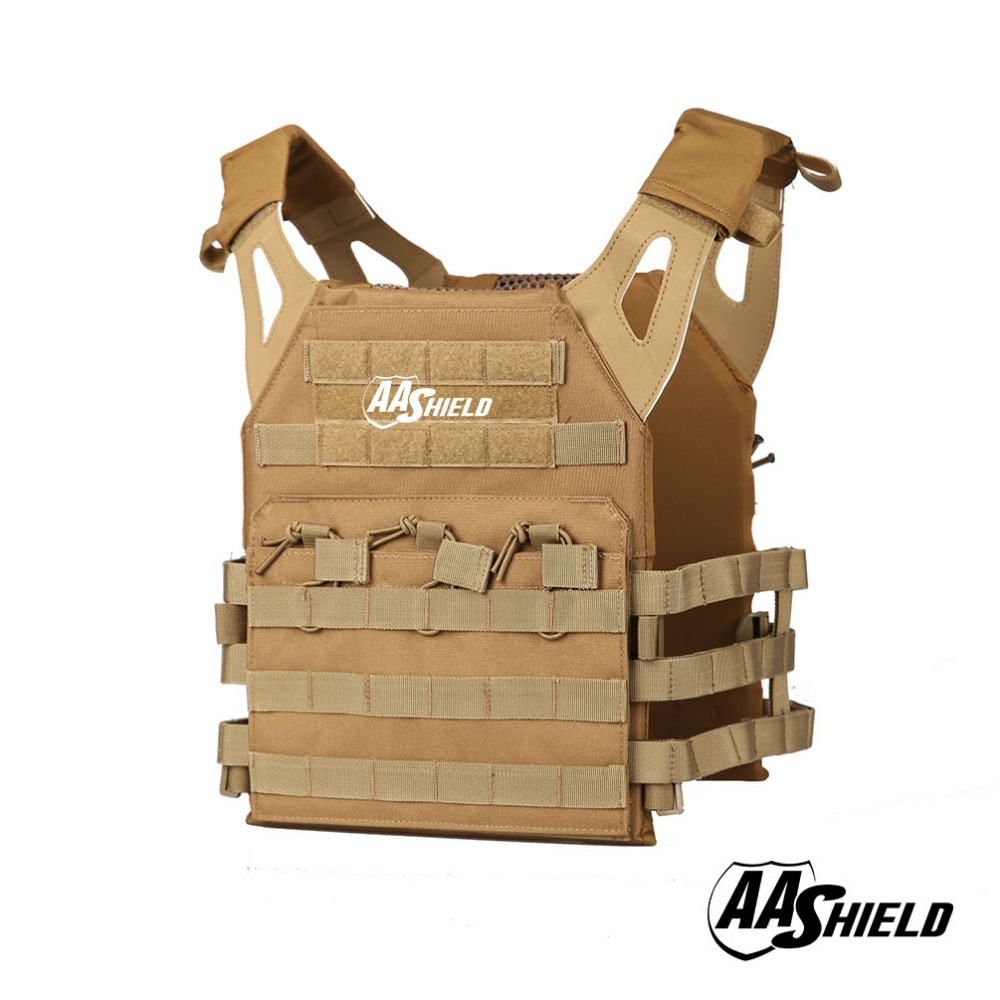 AA Shield Molle Hunting Plates Carrier Lightweight Military Tactical Vest JPC Style / TAN aa shield camo tactical scarf outdoor military neckerchief forest hunting army kaffiyeh scarf light weight shemagh desert dig