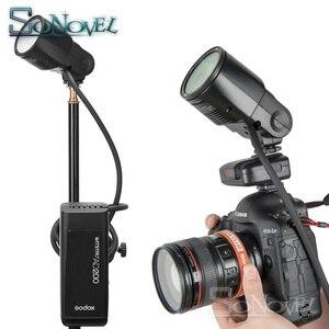 Image 5 - Godox AD200 TTL Flash H200R anneau Flash tête accessoires AK R1 porte de grange, Snoot, filtre de couleur, réflecteur, nid dabeille, Kit boule diffuseur