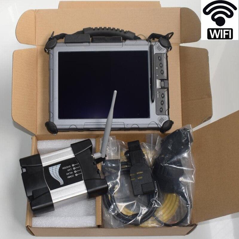 Ferramenta de diagnóstico auto para bmw e38 e36 wifi icom próximo a b c com software em laptop ix104 (4 g, i7) instalado 2018.09 v icom ssd